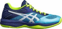 Asics Gel-Netburner Ballistic Sportschoenen - Maat 39.5 - Vrouwen - licht blauw/donker blauw/geel