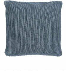 Blauwe MARC O'POLO Nordic Knit Sierkussen Smoke blue - 30x60