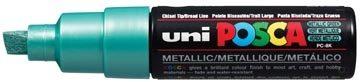 Afbeelding van Creotime Uni-ball Paint Marker op waterbasis Posca PC-8K groen metaal