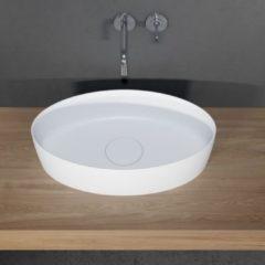 Waskom Riho Thin Opbouw Ovaal 58x34.6 cm Mat Wit