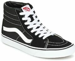 Zwarte Vans Sk8 Hi-Top Trainers - Black/White - UK 4