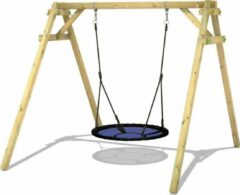 Blauwe WICKEY Schommel, Speeltoestel Smart Rush Houten schommel, Kinderschommel