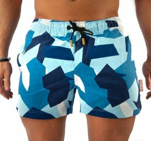 Afbeelding van Blauwe BLUE CAMO | Zwembroek | Animaux Troupeau