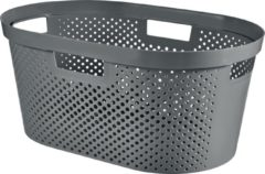 Curver Infinity wasmand dots 40L - 100% recycled donkergrijs