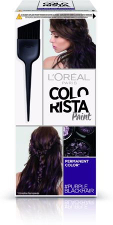Afbeelding van Paarse L'Oréal Paris Colorista Paint - Purple Black - Permanente Haarkleuring
