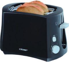 Cloer 3310 Toaster 3310, 825 Watt, für 2 Toastscheiben, schwarz, schwarz (1 Stück)