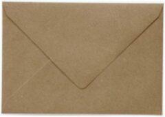 Paper For Moments 50x luxe wenskaartenveloppen EA5 156x220 mm - 15.6x22,0 cm - 120 grams 100% recycled bruin kraft