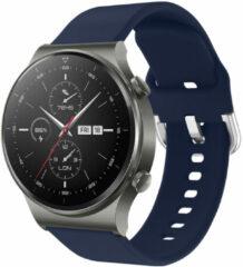 IMoshion Siliconen Smartwatch Bandje voor de Huawei Watch GT 2,Huawei Watch GT 2 Pro,Huawei Watch GT 2e Sport 46 mm - Donkerblauw