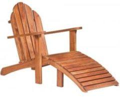Bruine Koopjetuinspul Hardhouten relax stoel
