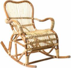 Naturelkleurige Xenos Rotan schommelstoel Bandung - 68x83x89 cm