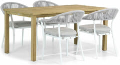 Witte Santika Furniture Santika Vivian/Weston 160 cm dining tuinset 5-delig