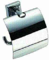 "Zilveren Best-design ""viera"" toiletrolhouder met klep"