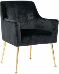 Richmond Interiors Richmond Eetkamerstoel 'Harper' Velvet Croco, kleur Zwart