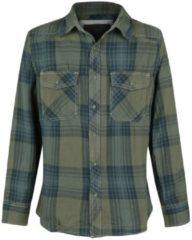 Brandit Checkshirt Camicia verde/blu