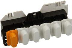 Miele Tastenschalter 6-fach kpl. (mit weiß/orangenen Tastenkappen) für Waschmaschinen 4363850