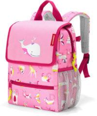 Reisenthel Backpack Kids Rugzak - Polyester - 5L - ABC Friends Pink Roze;Multi Kleur