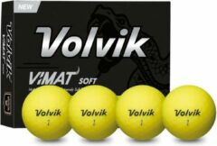 Volvik vimat soft golfbal dozijn, geel, dames ballen