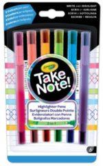 Markeerstiften met fijnschrijver Crayola - 6 stuks - Knutselset Tekenen Crayola