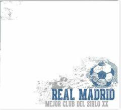 Witte Imagicom Real Madrid Whiteboard Muursticker Vintage 50 X 70 Cm
