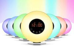Grundig wake-up light - zonlichtsimulatie - uitgeruster wakker worden - natuurgeluiden - FM-radio - bedlamp
