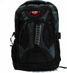 Rugzak Power - met laptop vak - 32x18x56 cm (6187-12) -zwart/olijfgroen