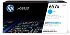 Blauwe HP 657X LaserJet Original Toner Cartridge Cyaan High Yield
