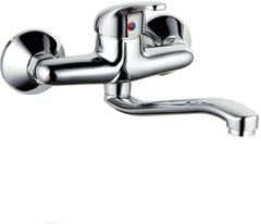 SanitairZone Aloni Euro Wandkeukenkraan Met Waterbesparing Chroom