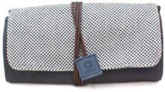 Cohana Mikawa Momen Opbergtas van gewaxt canvas (grijs, blauw))
