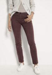 Hessnatur Damen Hose Slim Fit aus Bio-Baumwolle – braun – Größe 48