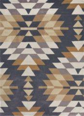 Harlequin - Elwana Jute 140208 Vloerkleed - 170x240 cm - Rechthoekig - Laagpolig Tapijt - Modern, Retro - Antraciet, Beige, Bruin