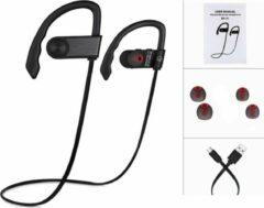 Beige SBVR Draadloze bluetooth in ear sport oortjes headset - zweetbestendig - Zwart