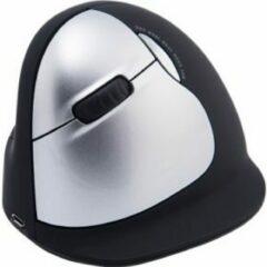 Zilveren R-Go Tools R-Go HE Mouse, Ergonomische muis, Large (Handlengte boven de 185mm), Linkshandig, draadloos