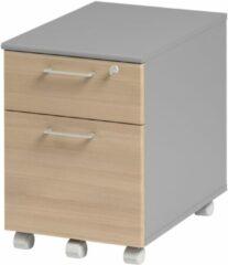 Gamillo Furniture Ladeblok Jazz 1 van 60 cm hoog in beuken met licht grijs