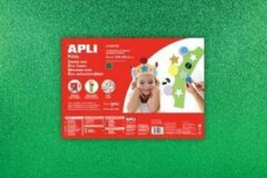 Apli Kids EVA Foam vellen 60 x 40 cm Glitter metallic groen - 3 vel