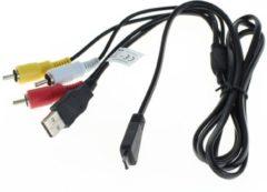 Zwarte USB AV kabel compatibel met VMC-MD3 voor Sony Cyber-shot camera's - 1,5 meter