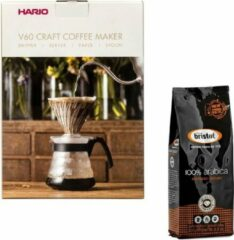 Hario V60 slow coffee kit + Bristot Diamante 100% Arabica gemalen koffie