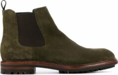Blackstone UG23 suède chelsea boots olijfgroen