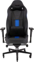 Corsair T2 Road Warrior - Gamestoel - Zwart / Blauw