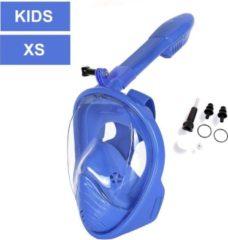 Campingwise full face snorkelmasker - voor KIDS - Blauw - Maat XS