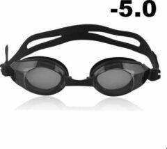 Zwarte Opmost Zwembril op sterkte - myopia (-5.0)