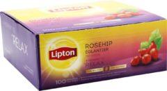 Lipton Tea Company Lipton thee, Rozebottel, Infusion, doos van 100 zakjes