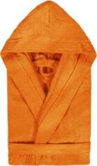 Duplex Cool Badjas met Capuchon Uni Cool Velours Oranje col 3074 maat M