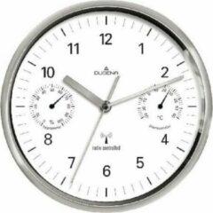 Zilveren Dugena Wandklok Funkuhr Wetterstation 4277392