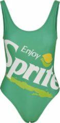 Groene Merchcode Retro Sprite Logo Swimsuit zwempak