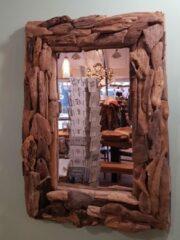 Naturelkleurige Bij Mies Spiegel Driftwood Small 30x40 cm