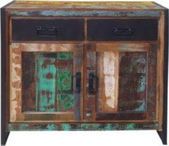 SIT Möbel Kommode Recyceltes Altholz bunt lackiert Sit-Möbel Bali