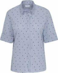 Lichtblauwe Seidensticker overhemd bloes dames Polkadot mt.42