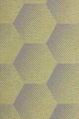 Gele Sunbrella Hexagon J207 Lemon per meter voor tuinkussens, buitenstoffen, palletkussens