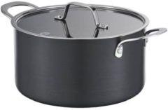 Zwarte MasterChef Braadpan Hard Anodised - Ø 20 cm - Incl. Deksel - 3,8 liter