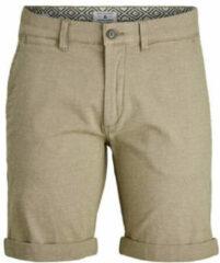 Jack jones jeans intelligence fit chino short kenso met biologisch katoen beige